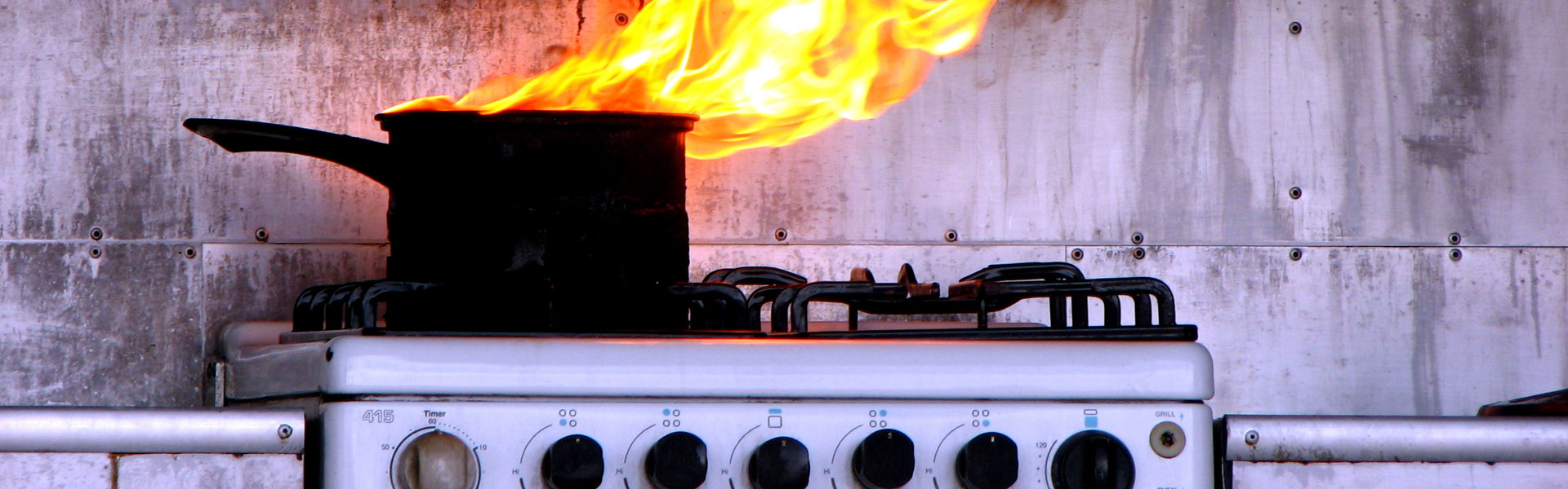 chip pan or grease fire