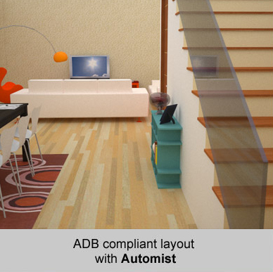 ADB compliant open plan layout with Automist