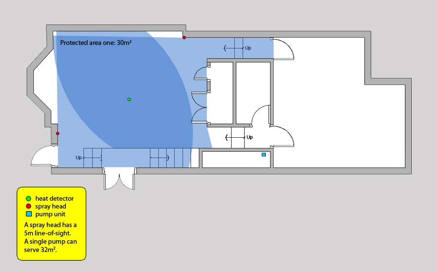 ADB compliant open plan layout