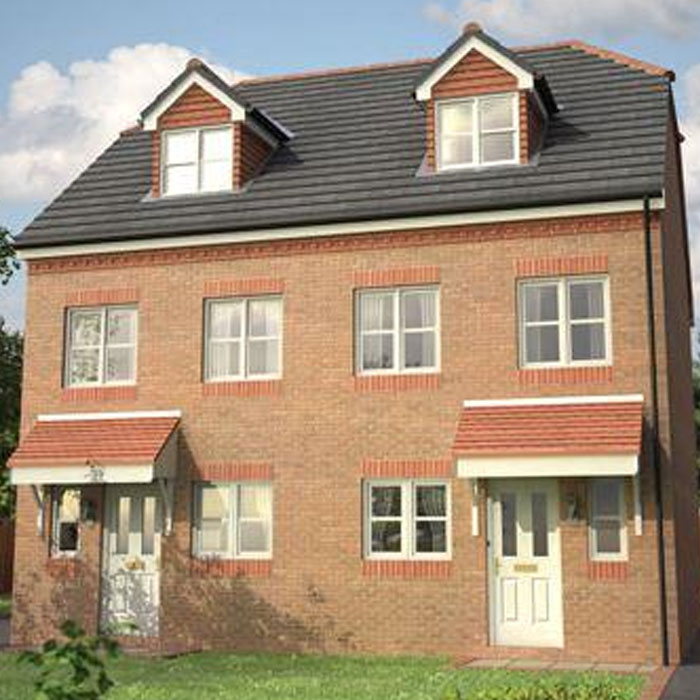 Open plan three storey house