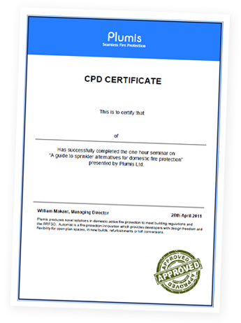Plumis CPD Certifcate