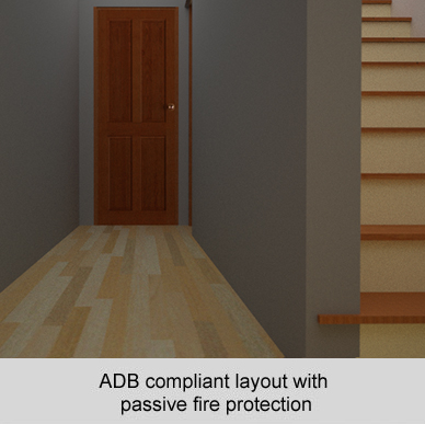 ADB compliant layout with passive fire protection